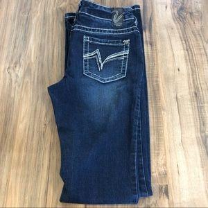 Sz 27 Long Vanity Jeans Bootcut Dark Wash Jeans